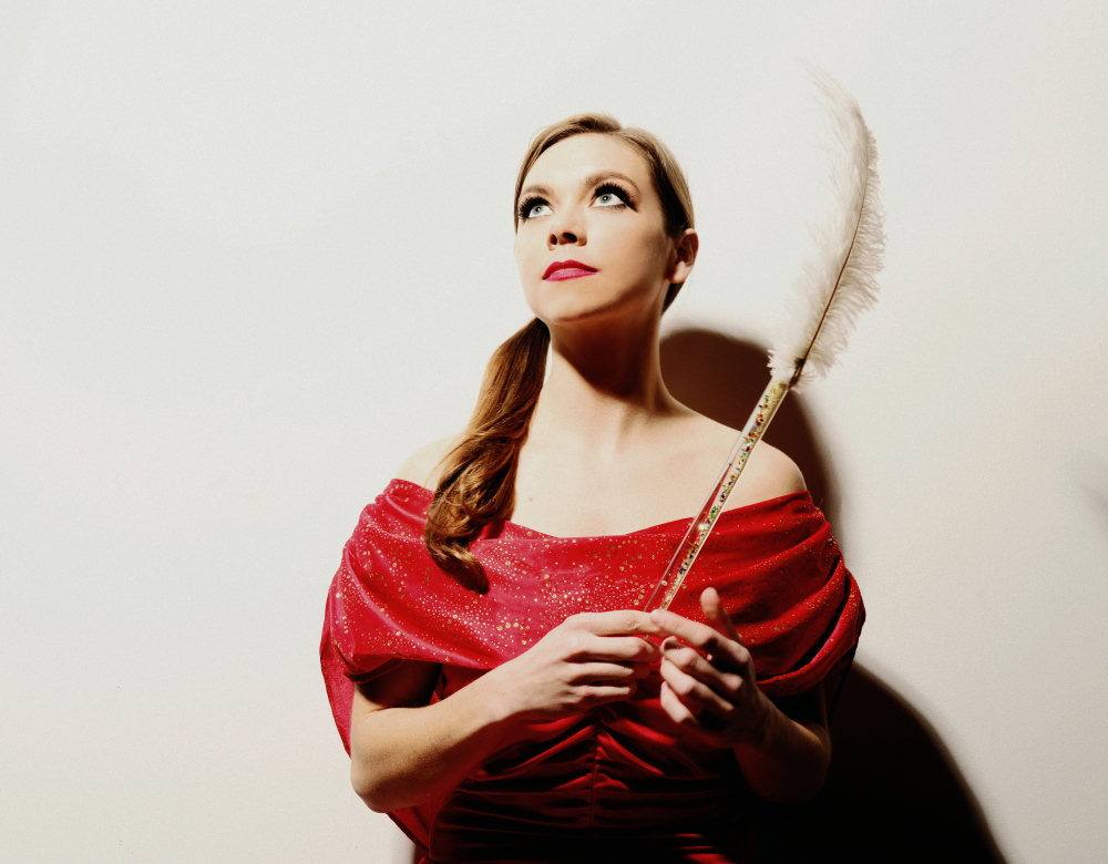 Singer and multi-instrumentalist Jocie Adams leads Arc Iris. The orchestral pop group plays at Space in Portland Thursday.