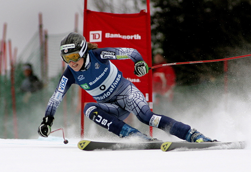 Kirsten Clark of Maine competes at the U.S. Alpine Championships at Sugarloaf in 2006. The resort will once again host the championships in 2015 and 2017.