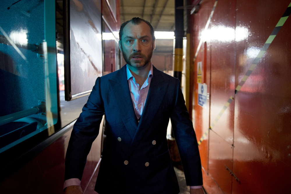 "Jude Law in the title role in ""Dom Hemingway."""