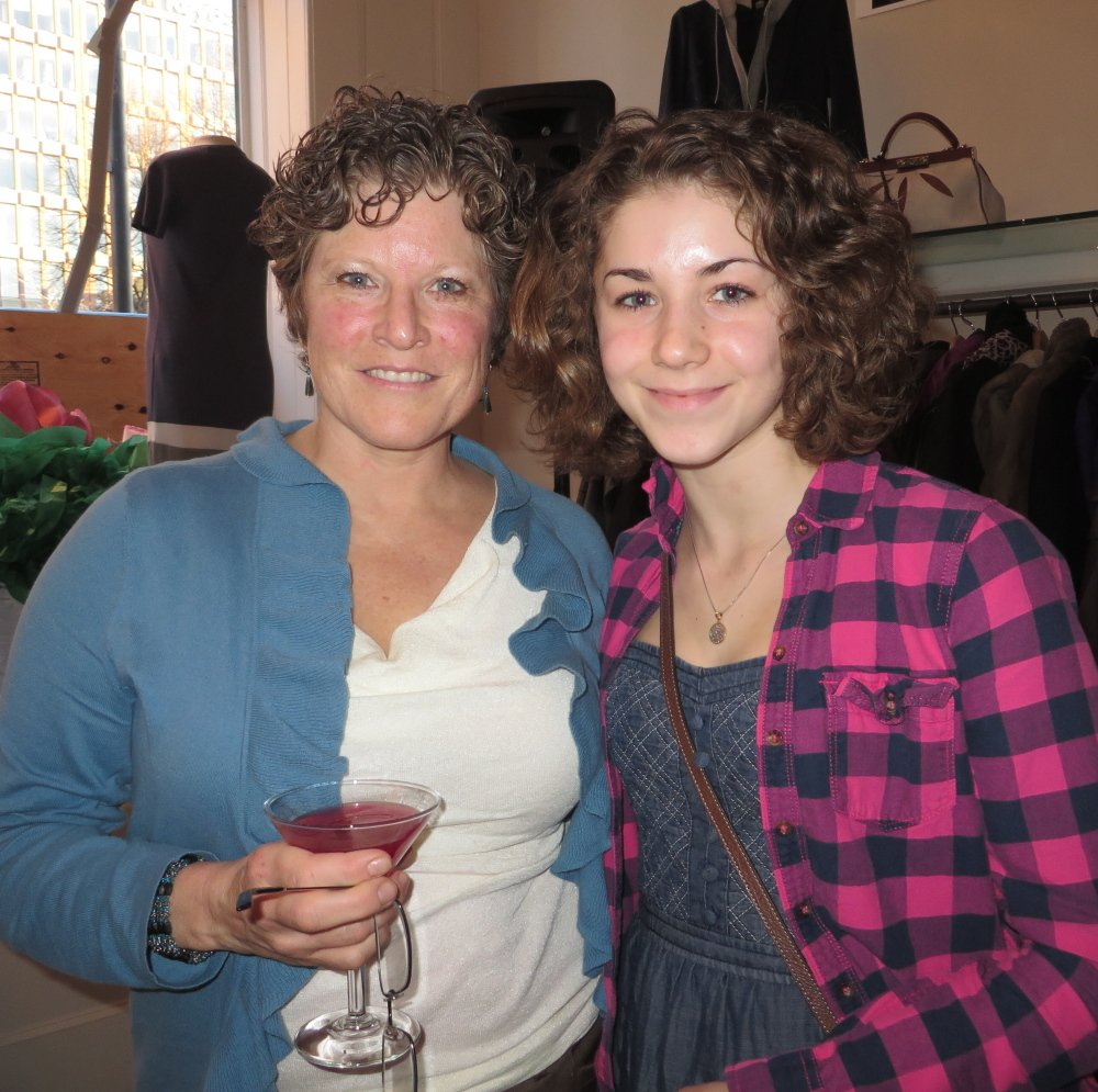 Marie Pressman of Harpswell with her daughter Sadie Pressman, who was named a Maine Jewish Film Festival Volunteer of the Year. Sadie's involvement began as a service project associated with her bat mitzvah.