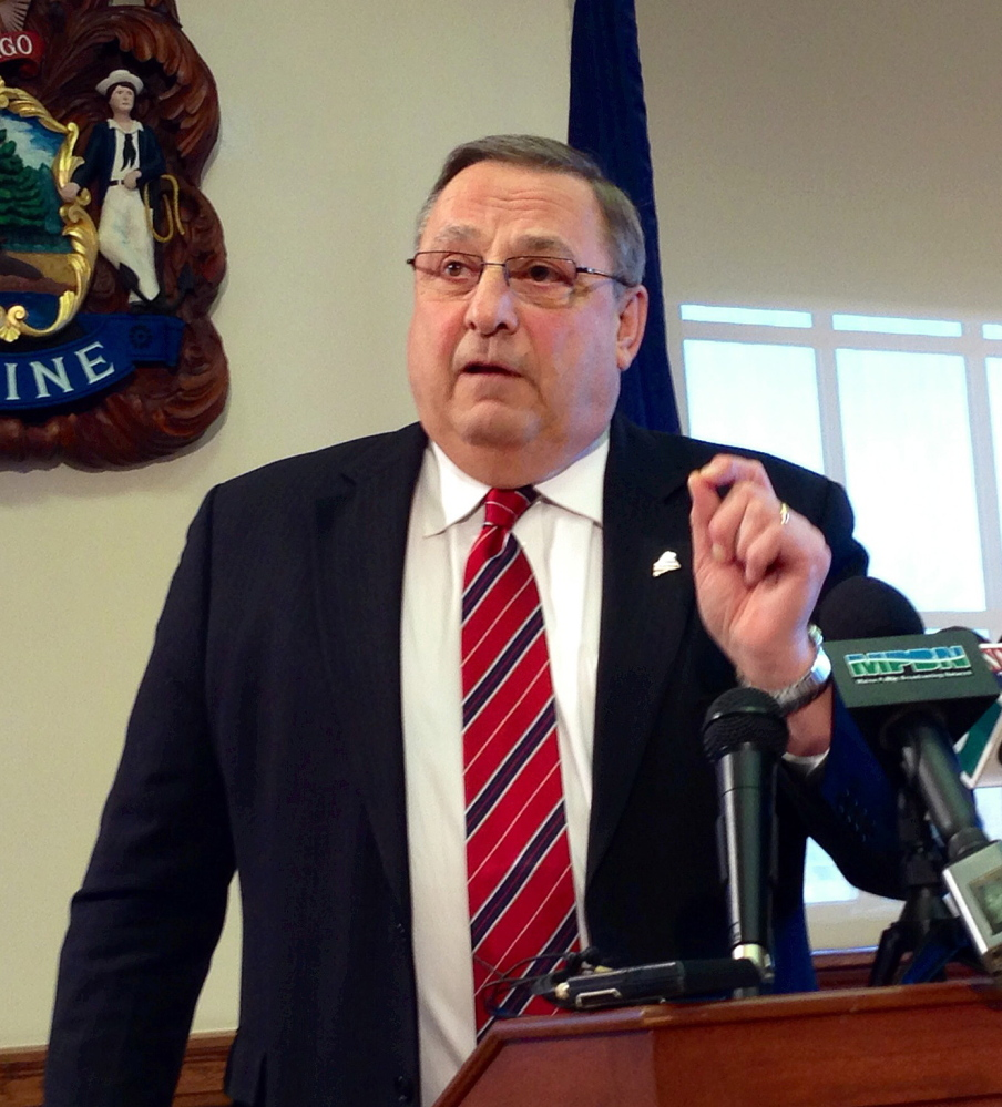 Gov. Paul LePage vetoed a bill to expand Medicaid coverage, and the Maine Senate on Friday failed to override it.