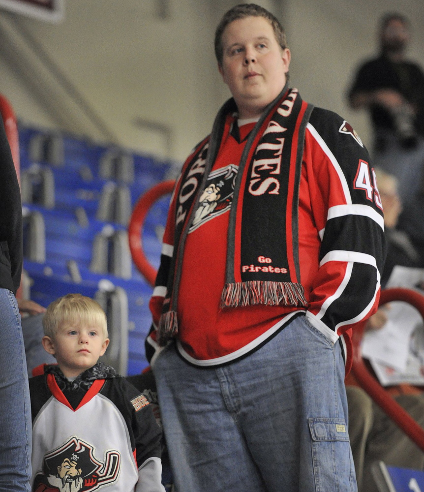 The next generation of Pirates fans, which includes 2-year-old Westin Hart, should have an easier time following the team once it's back at the Cumberland County Civic Center. Little Westin Prue, 2, the son of a family friend, did make many trips to Lewiston with Andrew Hart, but the South Portland family is glad they won't have to travel as far next winter.