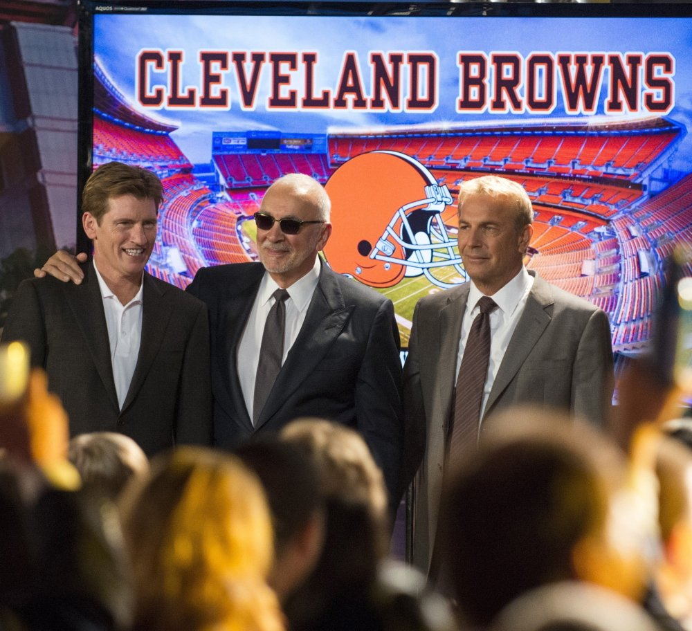 Denis Leary, from left, Frank Langella and Kevin Costner star in
