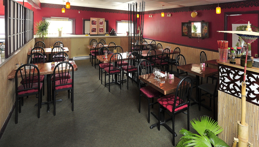 Interior of Chaba Thai Cuisine.