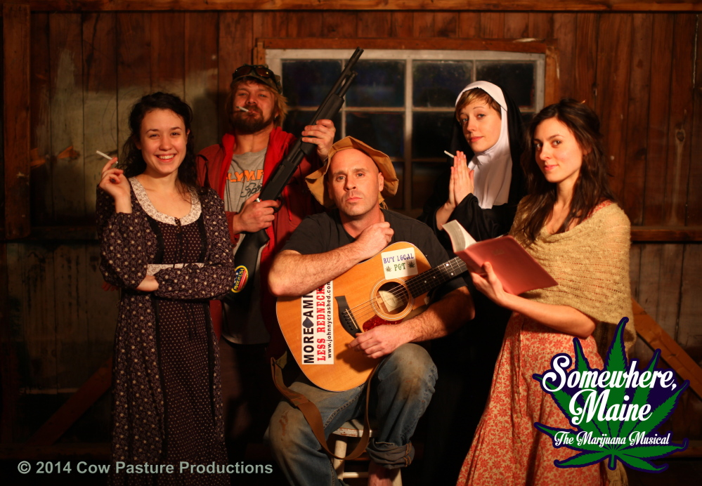 """Somewhere Maine: The Marijuana Musical,"" featuring original music and lyrics by Johnny Crashed with choreography by the Nevaeh Dance Company and Maine bluegrass and country musicians, will be presented at Port City Music Hall in Portland on Sunday."