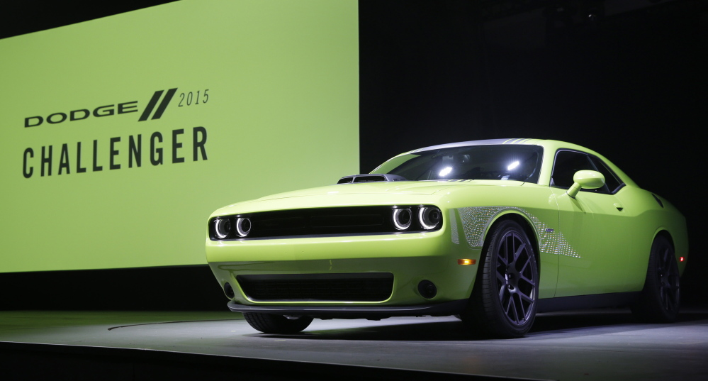 The 2015 Dodge Challenger is introduced at the New York International Auto Show on Thursday.