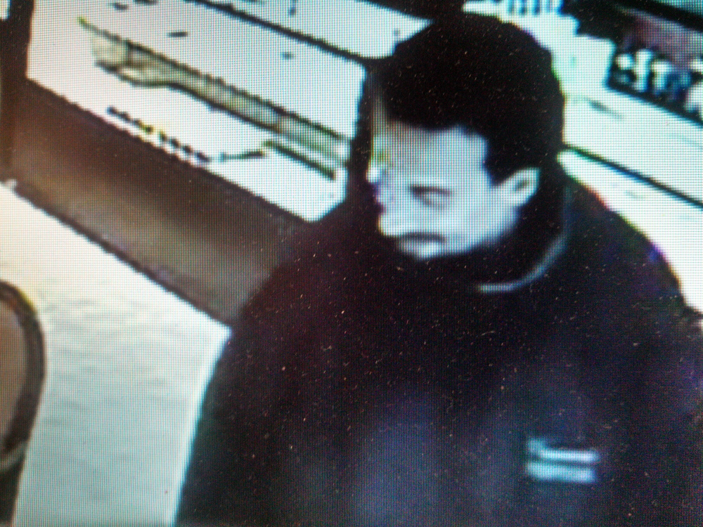 Waterville police released this photo of a man who stole two rings from L. Tardif Jeweler on Tuesday.