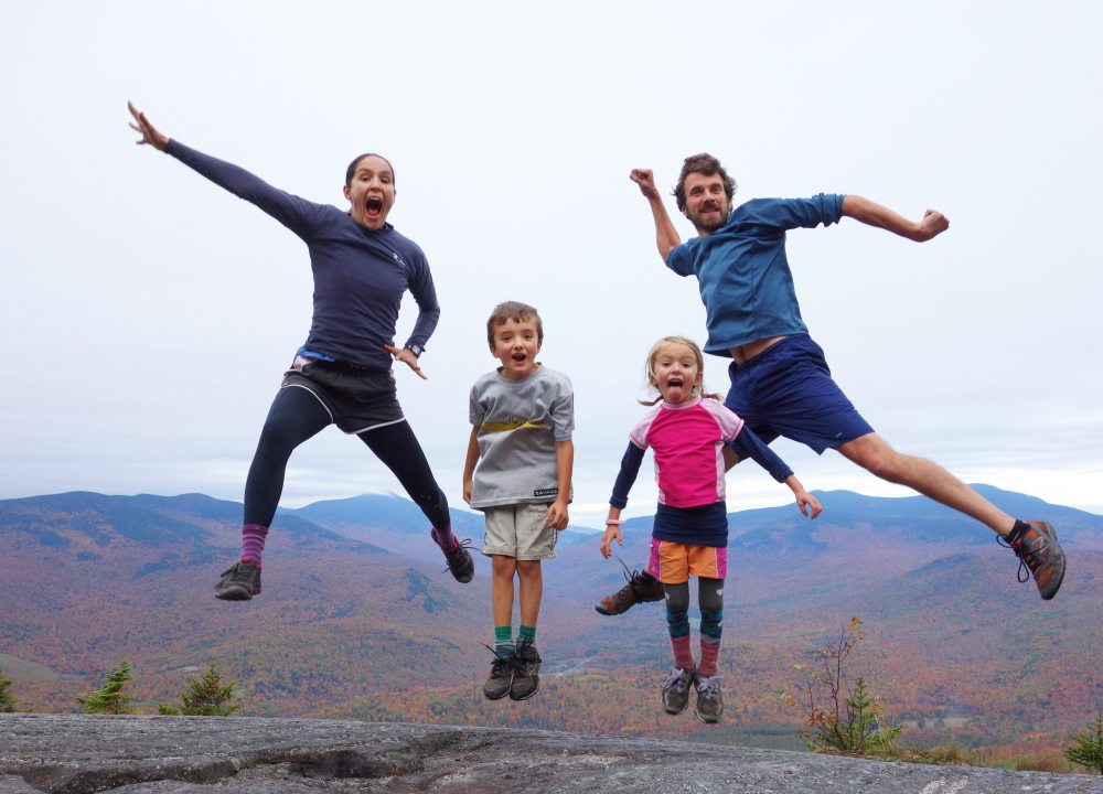 With Georgia's peaks an agreeable backdrop, the Kallin family – from left, Emily, Nathan, Madeline and David – is sky-high on its chances of hiking the 14 states that make up the Appalachian Trail. If all goes according to plan, the trek will be completed in September.