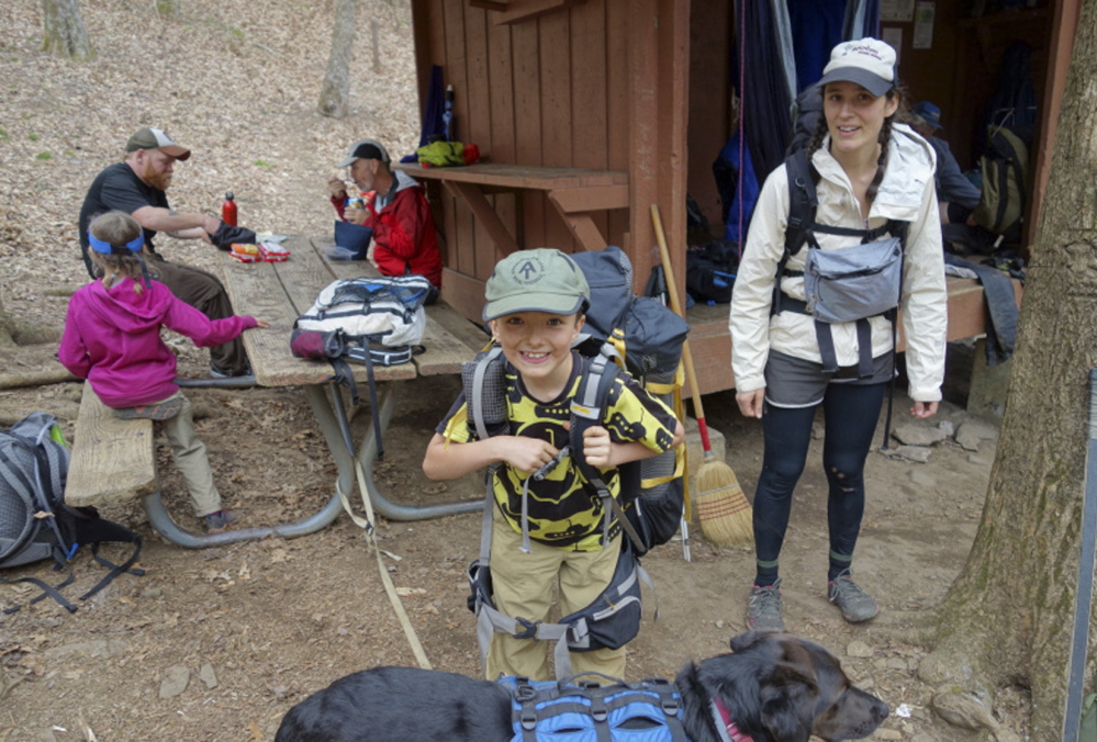 Rest and relaxation are wherever the Kallins and their faithful dog Orion can find it along the 2,185-mile Appalachian Trail that starts at Georgia's Springer Mountain and concludes at Maine's Mount Katahdin. So far, only 10 families have completed the trek.