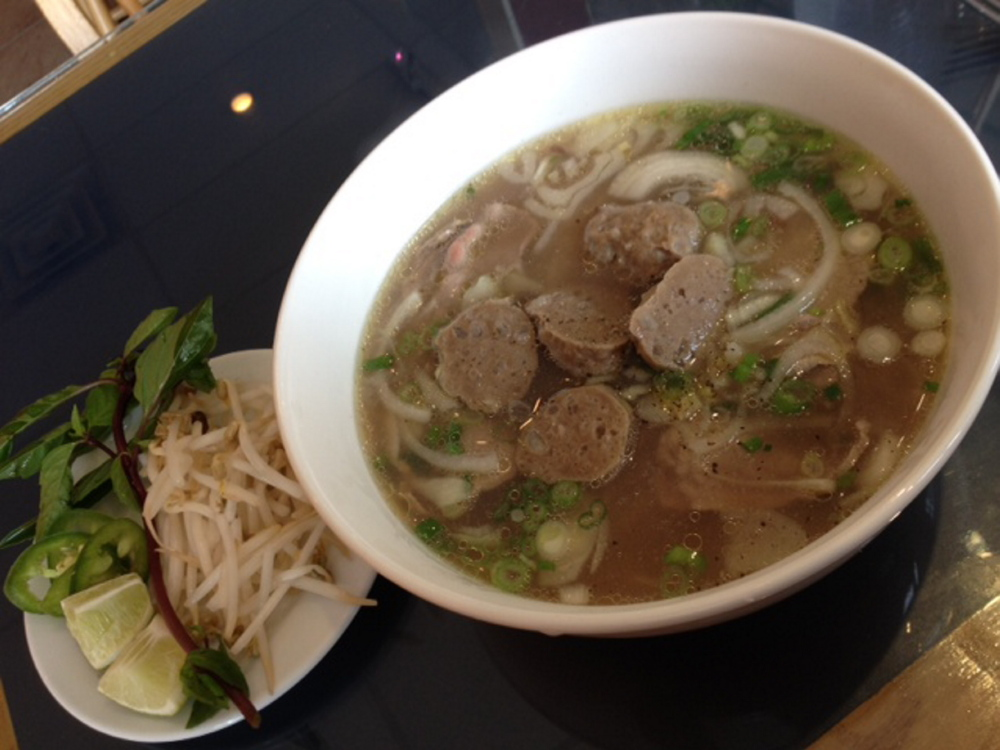 Pho from Vietnam Bakery comes with a selection of garnishes.