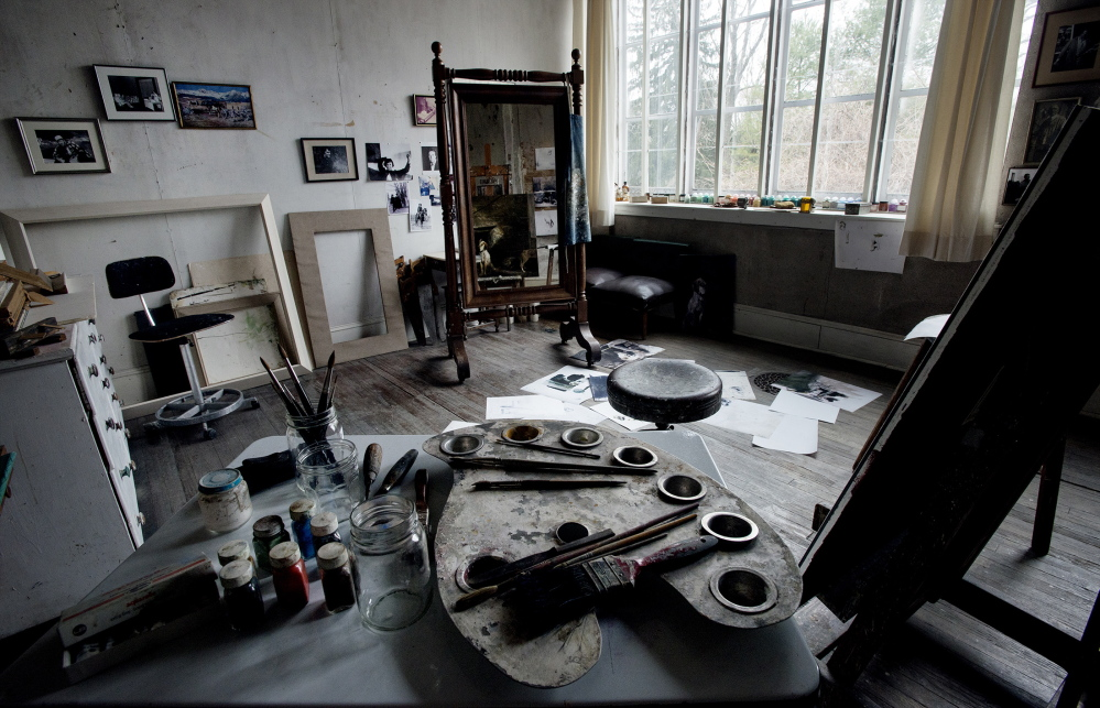 The studio of late artist Andrew Wyeth is seen in Chadds Ford, Pa. Wyeth's studio is now part of the Brandywine River Museum.