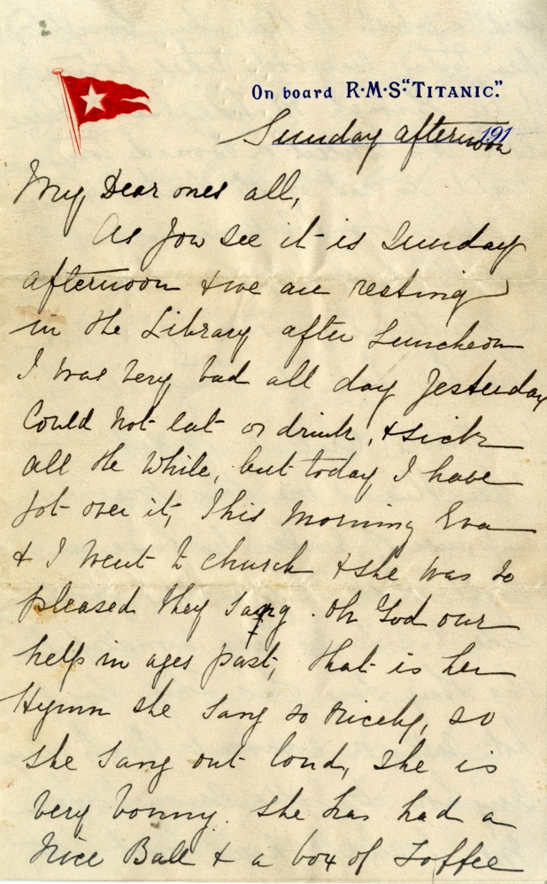 "This letter is called ""the jewel in the crown of Titanic manuscript ephemera."""