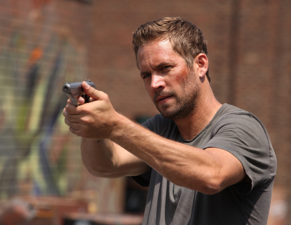 "The late Paul Walker in a scene from ""Brick Mansions."""