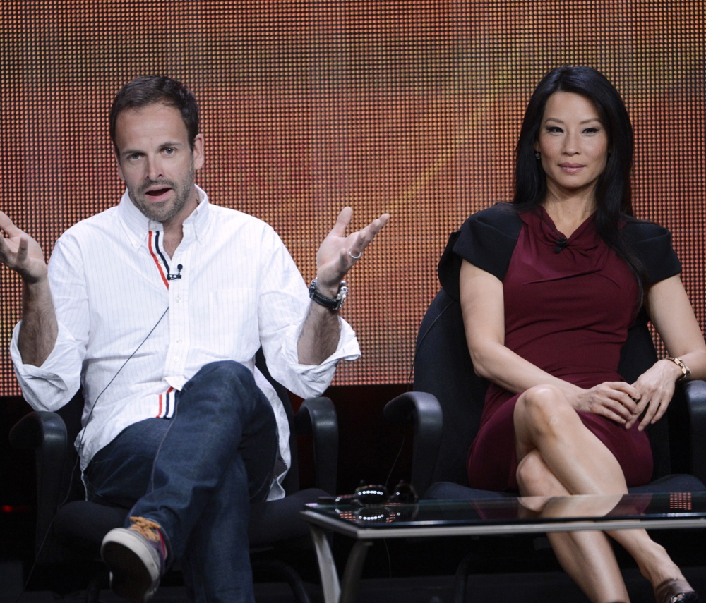 Cast members Jonny Lee Miller and Lucy Liu participate in a panel for CBS series
