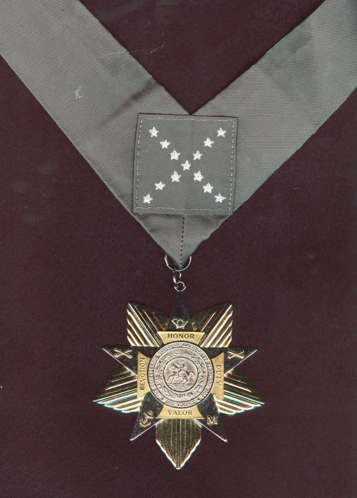 The Confederate Medal of Honor is shown in a photograph taken in 2010 at the Sons of Confederate Veterans headquarters in Columbia, Tenn. The group awards the medal posthumously to Civil War fighters for the South who distinguished themselves in battle. The private group has awarded 50 of the medals since 1977.