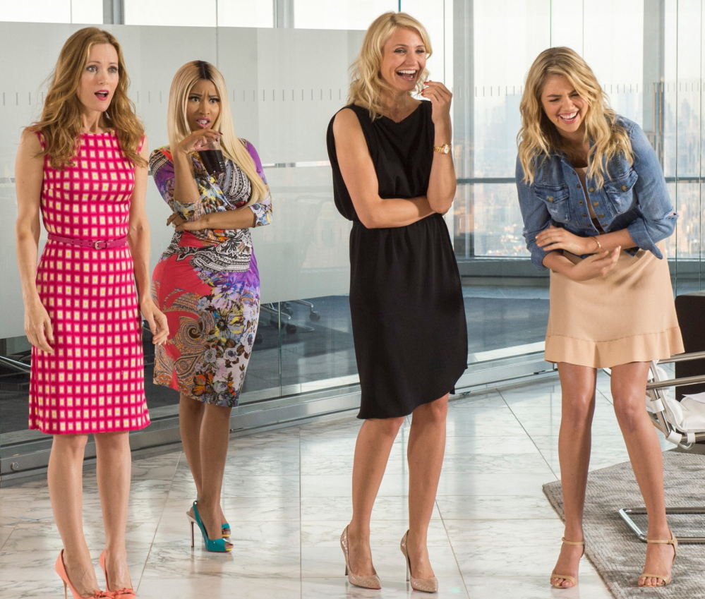 "From left, Leslie Mann, Nicki Minaj, Cameron Diaz and Kate Upton appear in ""The Other Woman,"" which took in $24.7 million at theaters over the weekend."