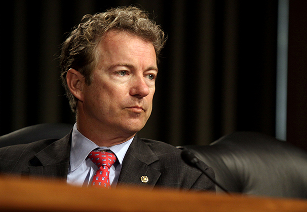Sen. Rand Paul, R-Ky., attends a subcommittee hearing Tuesday in Washington.