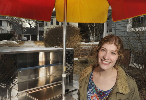 Gloria Pearse is launching a new Indian food cart called Annapurna's Thali this spring. She raised money for the project on Kickstarter, one of a growing number of local food entrepreneurs who are turning to crowdfunding as a way to raise the money needed to turn their dreams into reality.