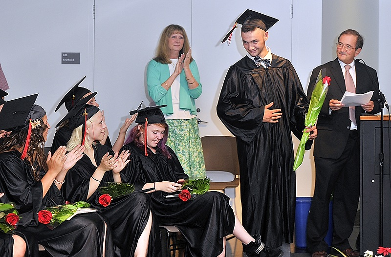 Andrew Annis at the graduation ceremony of Youth Building Alternatives