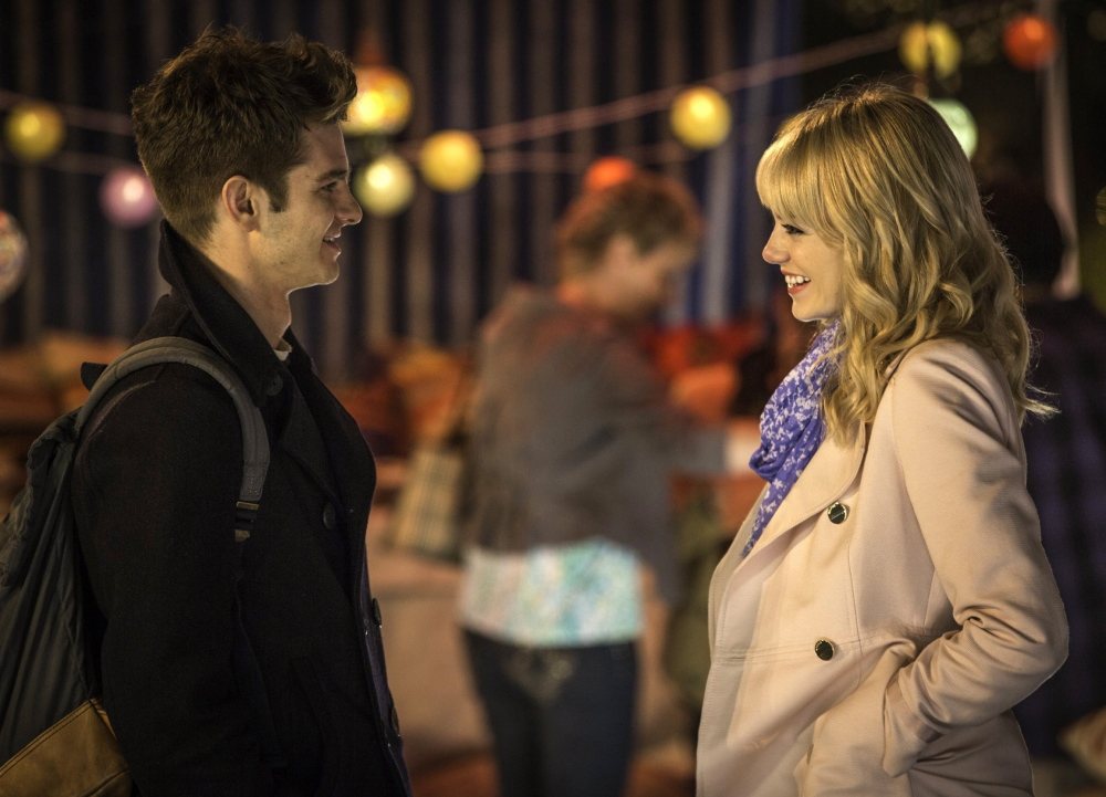 "Andrew Garfield and Emma Stone in ""The Amazing Spider-Man."""