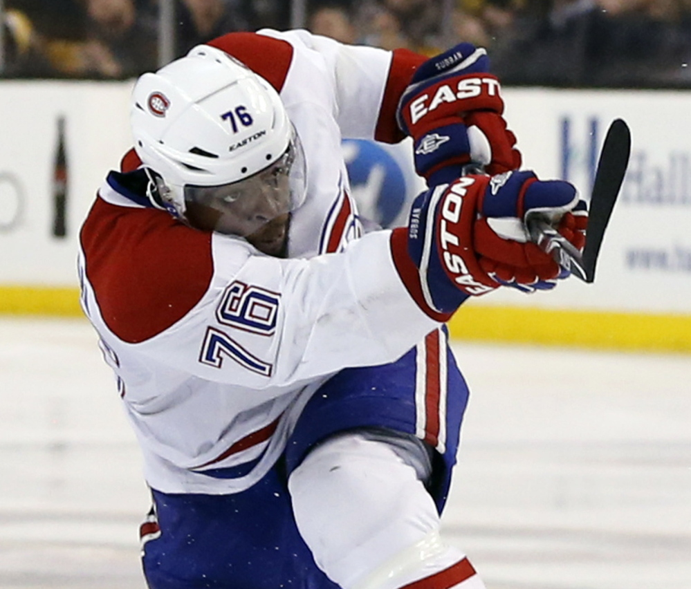 Montreal's P.K. Subban has long been unpopular in Boston, and his overtime goal Thursday in Game 1 of the Eastern Conference semifinals brought out the worst in some fans.