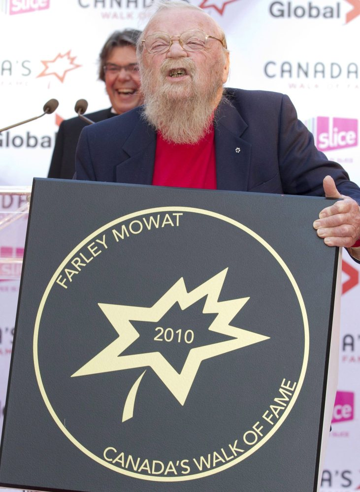 A 2010 inductee to Canada's Walk of Fame, the author Farley Mowat was a powerful voice for environmental and social issues.