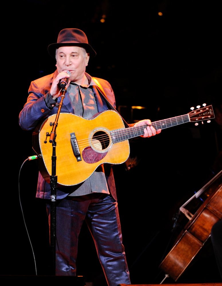 Grammy Award-winning musician Paul Simon was honored Wednesday night at the 2014 NYU Steinhardt Vision Award Gala.