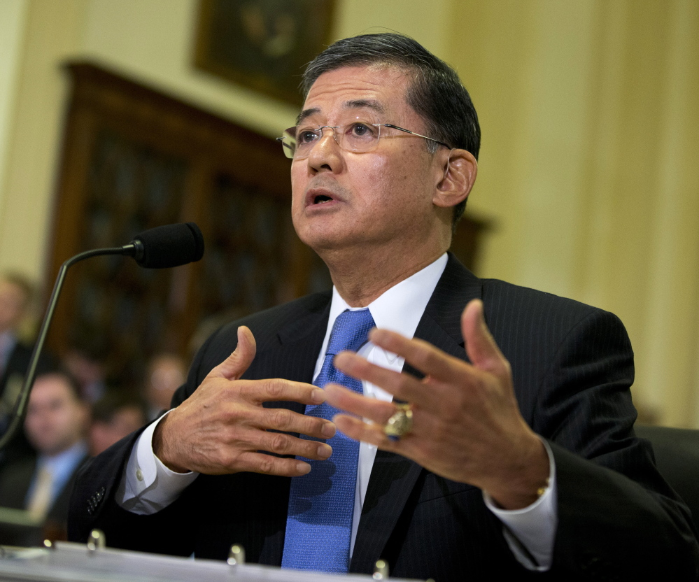 Veterans Affairs Secretary Eric Shinseki testifies before a House Veterans Affairs Committee hearing on Capitol Hill in Washington last October.
