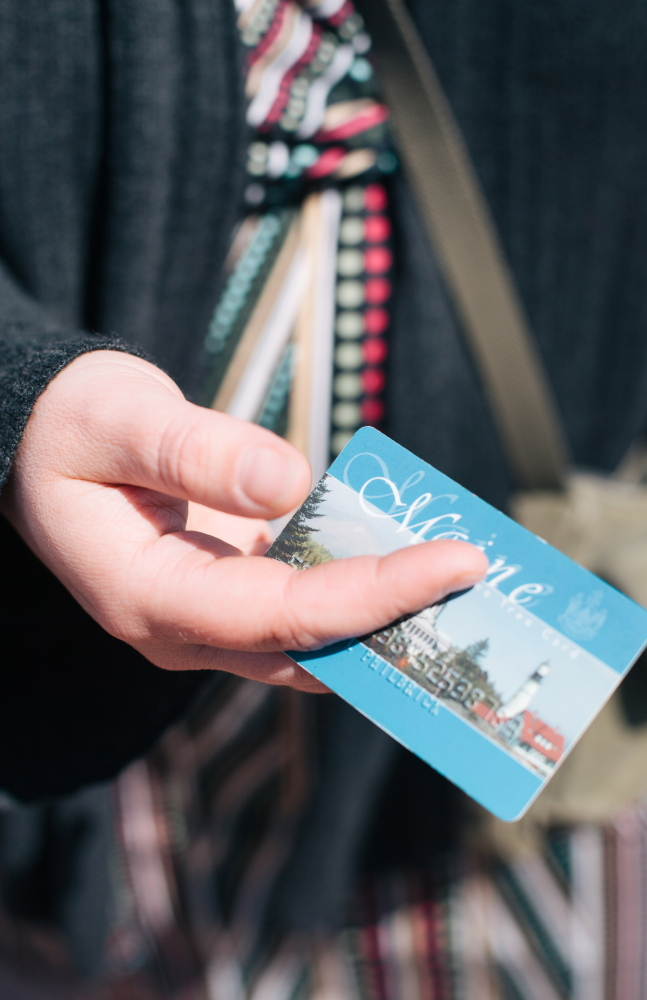 Samantha Ricker of Bath uses her SNAP card at the Bath Farmers Market to buy nutritious, locally grown food for her family.