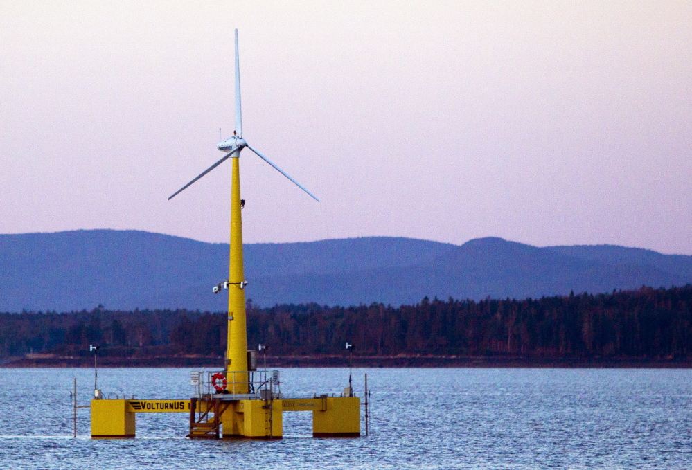 The University of Maine sited a floating wind turbine off the coast of Castine to attract federal funding for the development of an ocean wind project. Last week, the state learned that its effort received only token federal support, while the U.S. Department of Energy provided major funding for similar projects in Oregon and New Jersey.