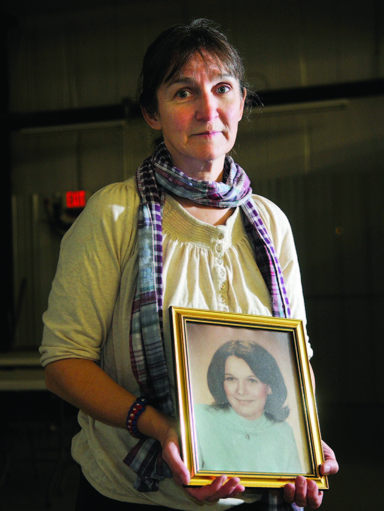 LIFE SENTENCE: West Gardiner resident Vicki Dill was one of several family members to testify Thursday at a parole board hearing for Michael Boucher, who killed her sister in 1973. The board denied Boucher's request to be released from prison.