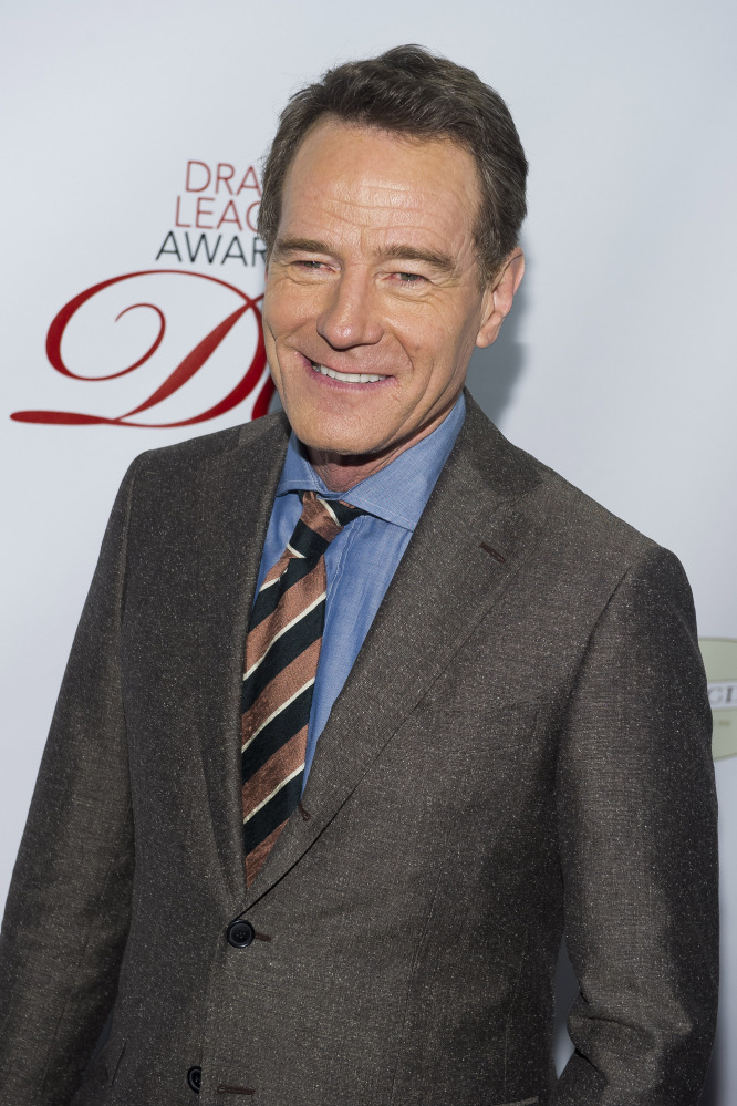 Actor Bryan Cranston attends the Drama League Awards on Friday in New York.