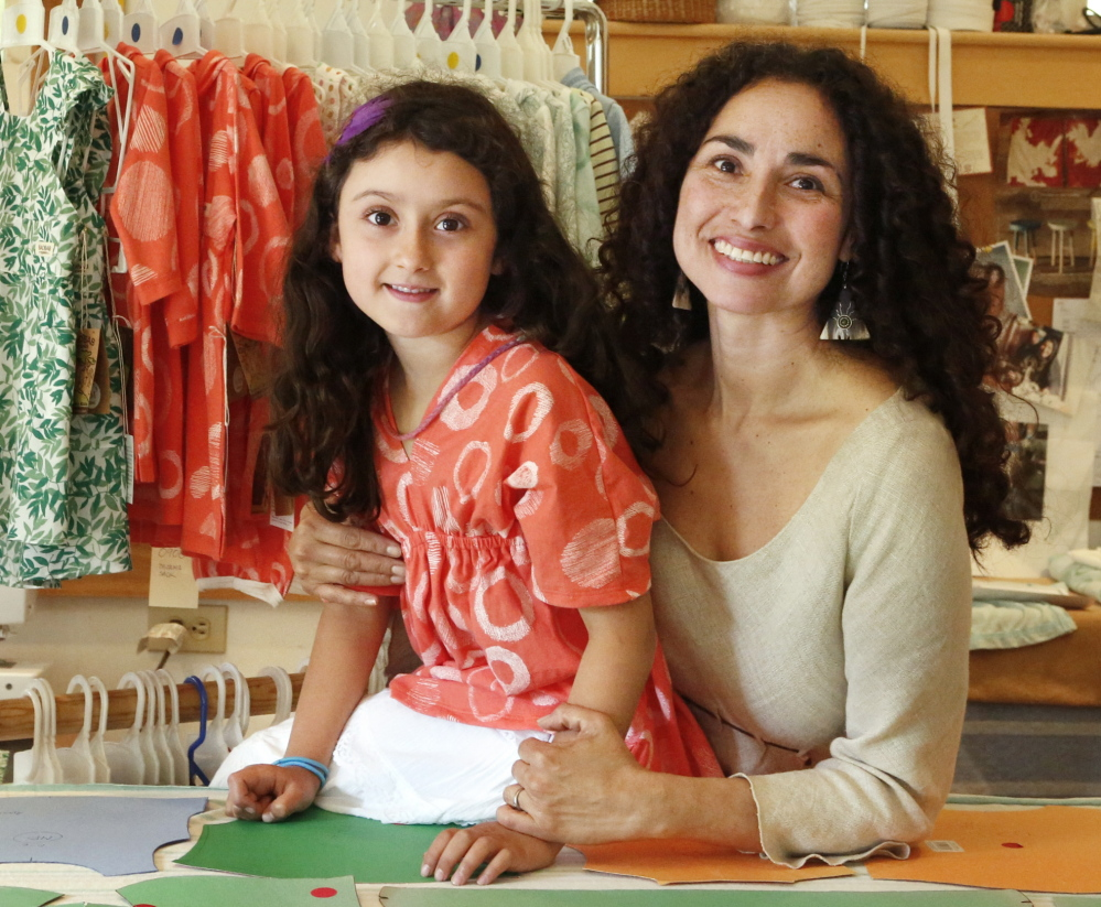 Vero Poblete-Howell was inspired to make sustainable children's clothes after her daughter Sofia, now 7, was born. She'll be bringing her line to the Common Ground Fair in the fall.