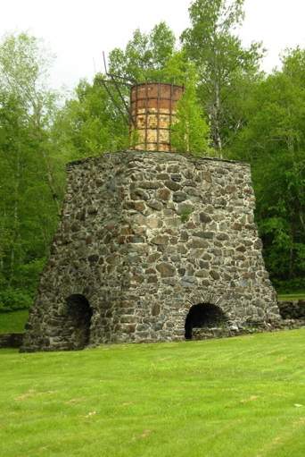 An old blast furnace for the historic Katahdin Iron Works marks one entrance to the Ki-Jo Mary Forest.