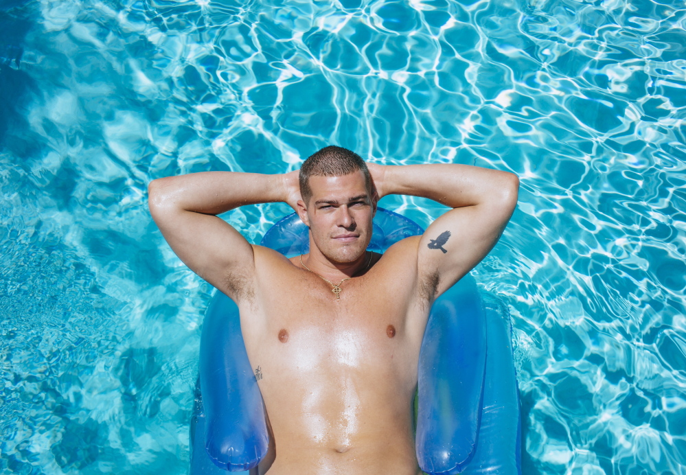 """Greg Finley at home in Burbank, Calif. The actor has built a lengthy resume in the 10 years since he left Maine, including stints on the series """"The Secret Life of the American Teenager"""" and """"Star-Crossed,"""" and guest spots on """"Law & Order: SVU"""" and """"House."""""""