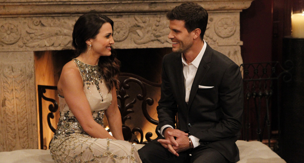 """Andi Dorfman, 27, and Eric Hill appear on the premiere episode of """"The Bachelorette,"""" which aired Monday night."""