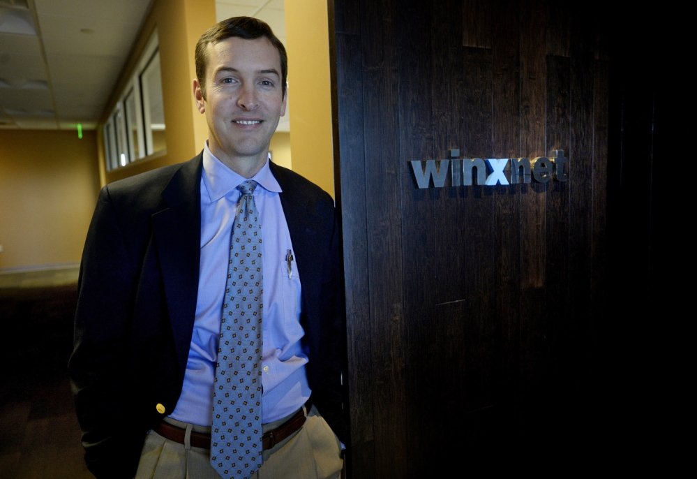 """Chris Claudio, Winxnet's CEO, says his company is trying to """"build a brand and a reputation for the state of Maine beyond its borders, and looking to consult and help other organizations do the same thing."""""""