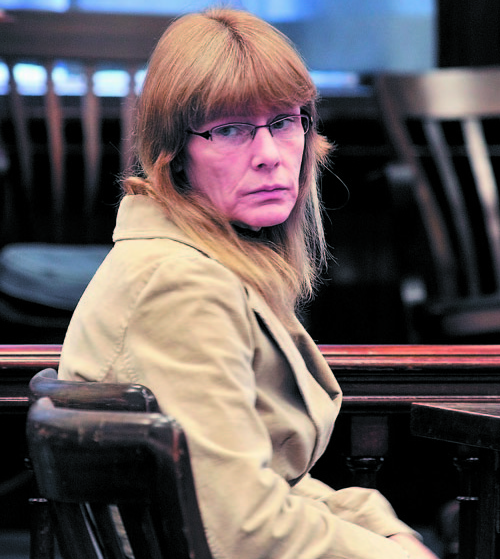 Karen McCaul is shown at the 2010 sentencing hearing in which she was ordered to live at Riverview Psychiatric Center in Augusta.