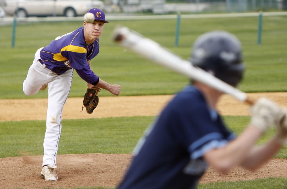 Mitchell Powers of Cheverus gave up three runs in the first three innings, but finished strong in a win over rival Westbrook in Portland on Thursday. He allowed six hits and a walk, and struck out 12.