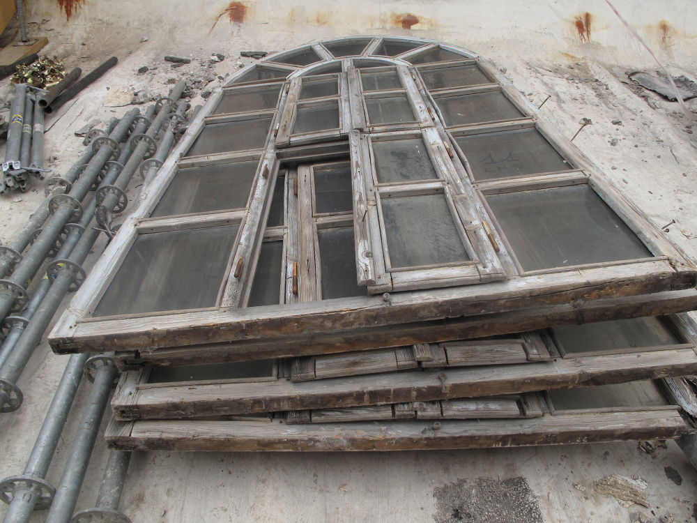 The old windows of the Church of the Nativity in Bethlehem have bullet holes from a siege that occurred in 2002 between Palestinian gunmen and the Israeli army. The church, built on the site where tradition says Jesus Christ was born, is getting its first restoration in centuries. Pope Francis is scheduled to visit the church Sunday.