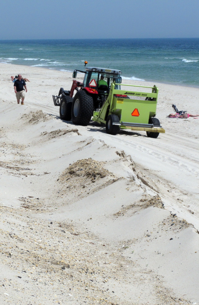 A sweeper cleans Ortley Beach on the Jersey Shore. New Jersey will have received a total of $4.2 billion in Sandy funding.
