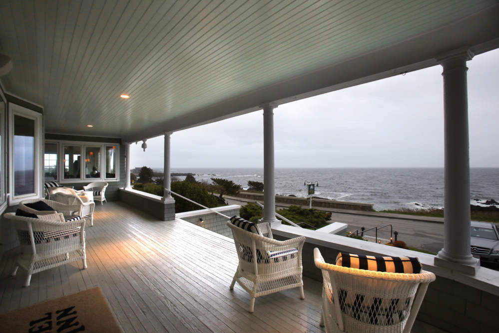 Every seat in the house, inside or out, offers a commanding view of the Atlantic.