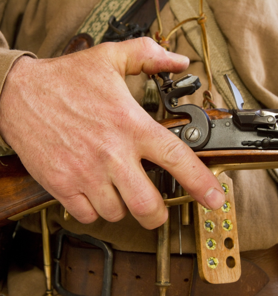 Once state-of-the-art weaponry, the flintlock still stands any test of time, as far as the Ancient Ones of Maine are concerned.