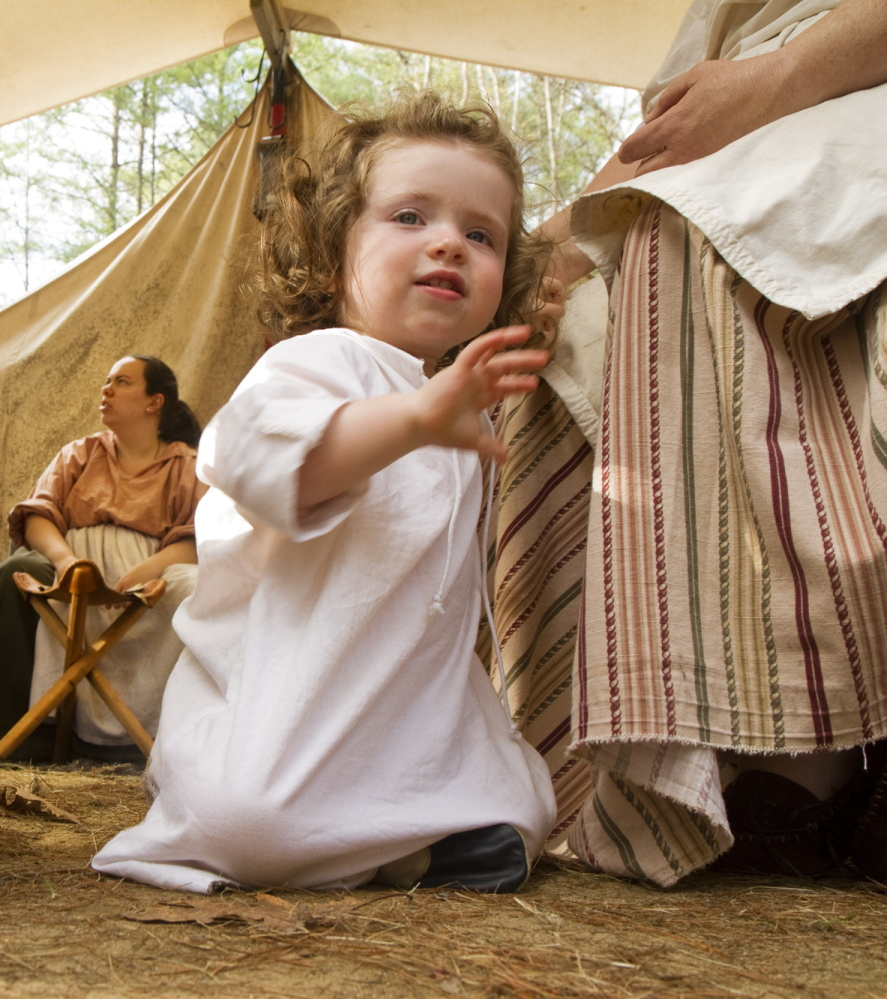 Seventeen-month-old Makayla Russell of Rockport might be part of the next generation of the Ancient Ones of Maine if she continues following in the footsteps of her history-savvy family.