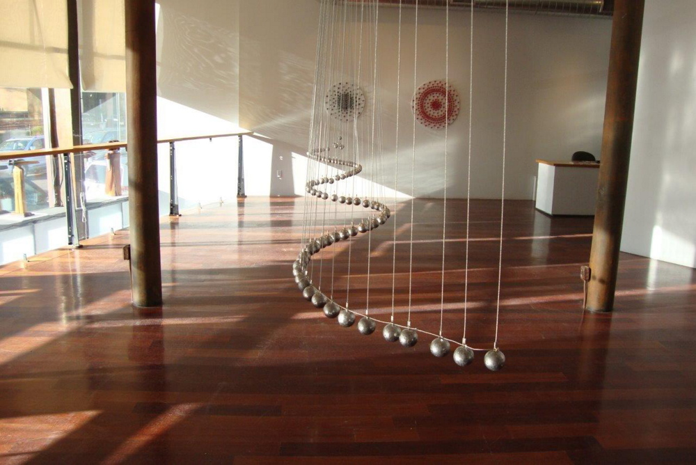 "The interactive ""Wave Line"" in Bernard's ""Spherical Harmonics"" in Boston"