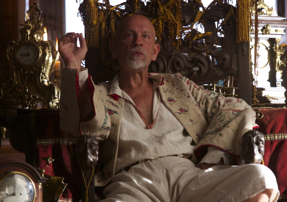 "John Malkovich plays Blackbeard the pirate as soft-spoken, intelligent, vicious and ideological in the new NBC television series ""Crossbones.'"