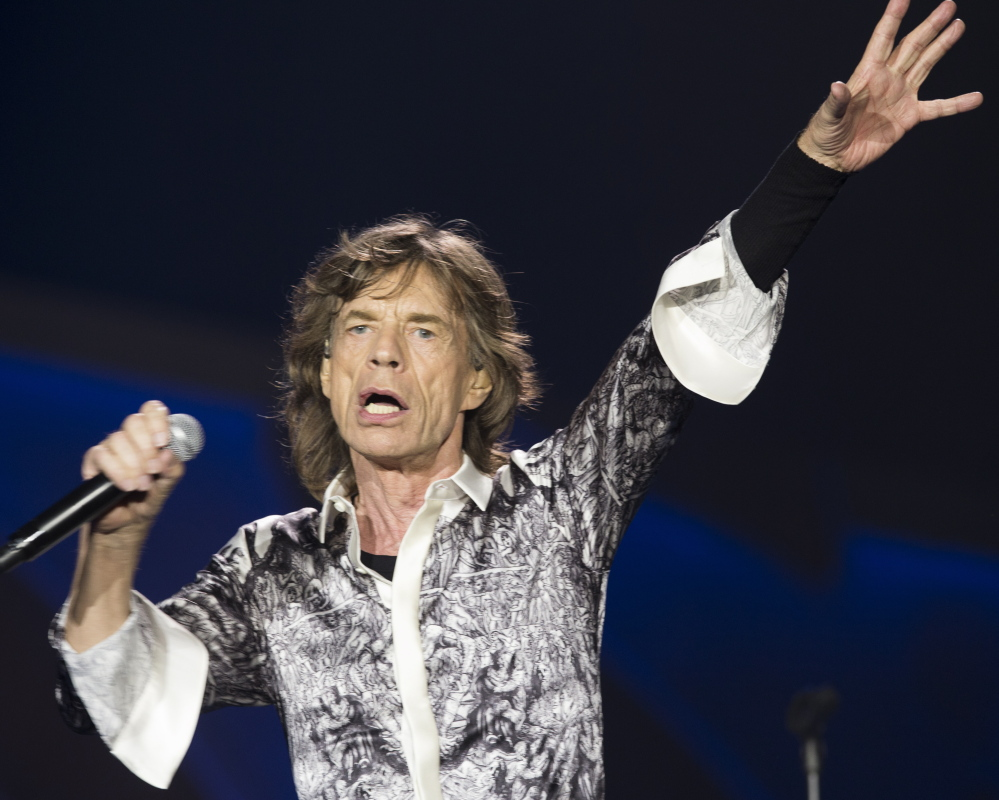 Rolling Stones frontman Mick Jagger performs during a concert in the Telenor Arena in Norway on Monday. Jagger's girlfriend, L'Wren Scott, committed suicide in March.