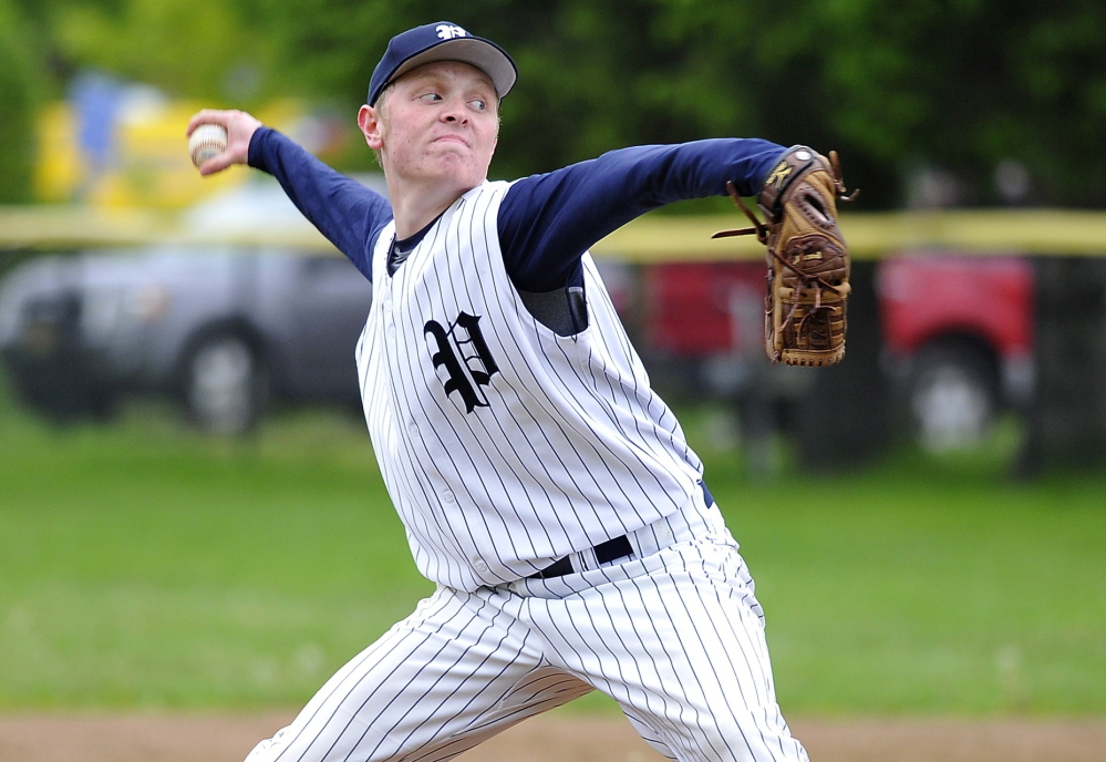 Nick DiPalma was the winning pitcher, allowing three hits with seven strikeouts as the Bulldogs improved their record to 8-5 and dropped Deering to 3-11.