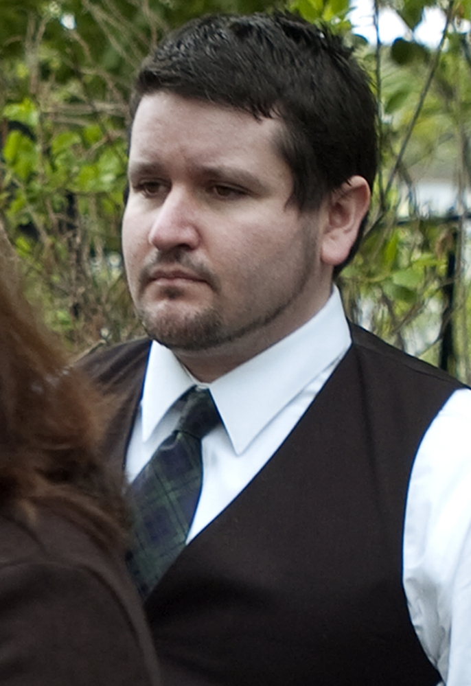 """Seth Mazzaglia attends a viewing at Peirce Island in Portsmouth, N.H., on Tuesday. It's where prosecutors allege Mazzaglia disposed of the body of University of New Hampshire student Elizabeth """"Lizzy"""" Marriott."""