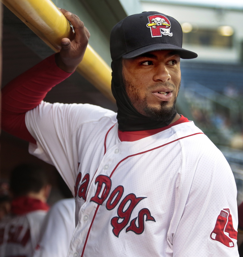 Outfielder Henry Ramos of the Portland Sea Dogs has learned that good day, bad day doesn't matter, that things will go better if he doesn't get too high or too low emotionally.